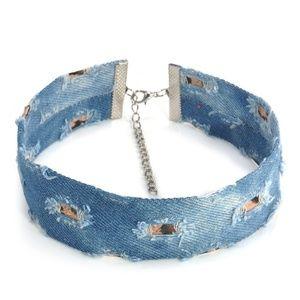 Jewelry - Distressed Denim Choker